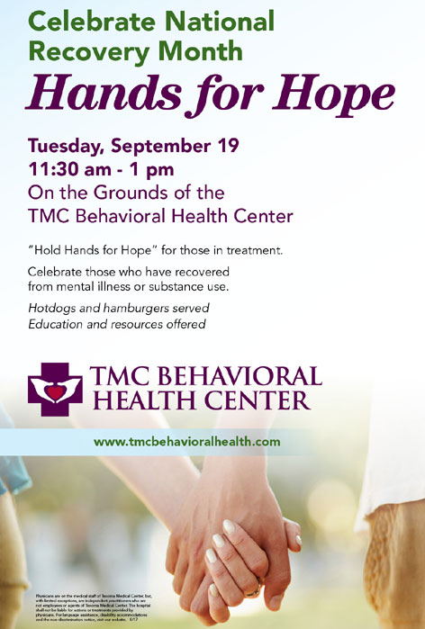 Tmc Behavioral Health Center Hands For Hope Tuesday September 19