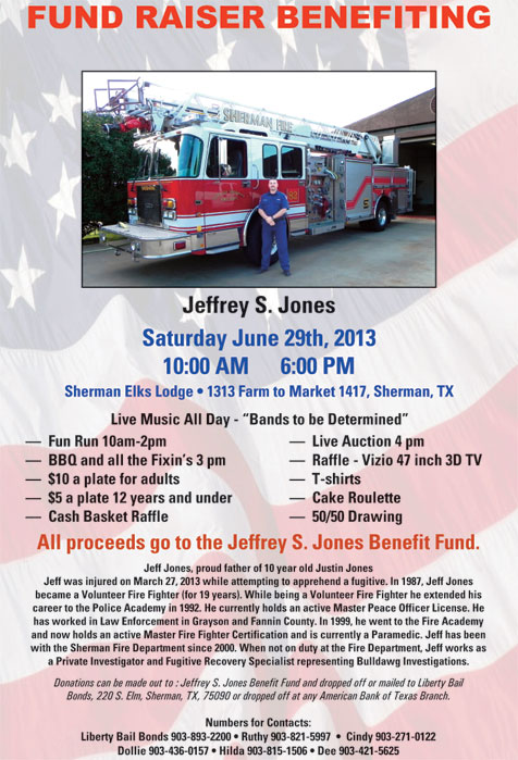 Fundraiser to benefit Jeffrey S  Jones June 29 in Sherman